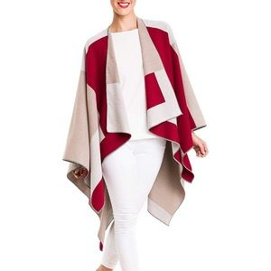 Cardigan Poncho Cape Cardigan Shawl Wrap Sweater